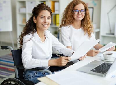 niepełnosprawni praca biurowa